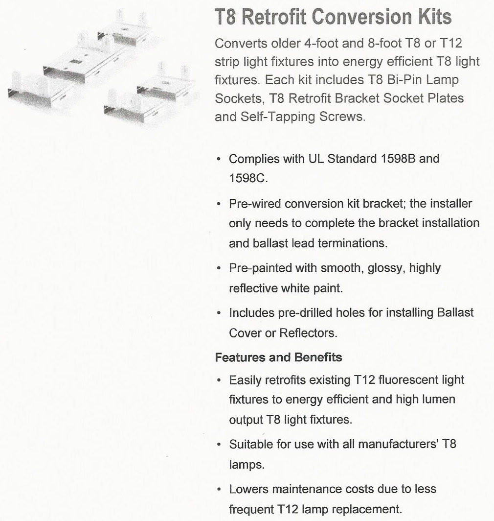 Led Conversion Kits 8 Foot Fluorescent Light Fixture Wiring Install 4 Tubes In A 2 Tube